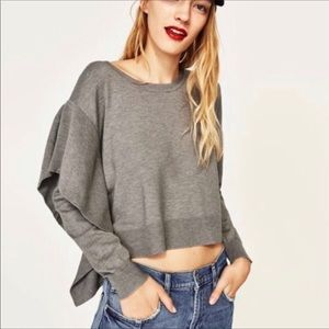 NWT Zara Ruffle knit top